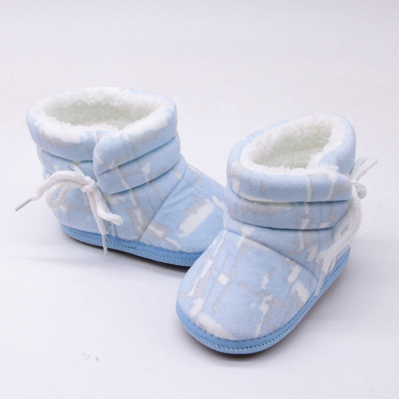 WEIXINBUY Baby Boots Winter First Walkers Fashion Baby Girls Shoes Fur Snow Warm Boots