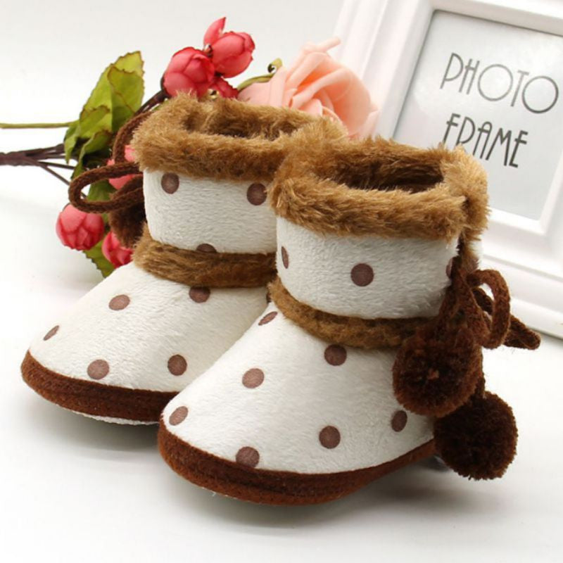 Winter Boots Soft Bottom Baby Moccasin Baby Warm Boots Non-slip Boots for Baby Girls