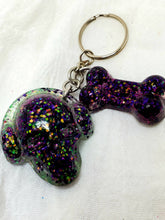 Skull & bone resin keychain