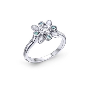 Diamond Leaf inspired Engagement ring