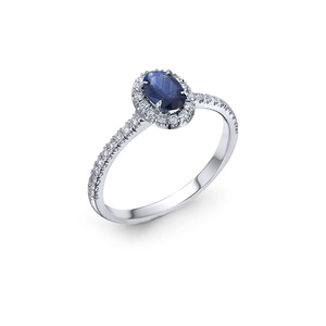 Blue Sapphire Classic Engagement Ring