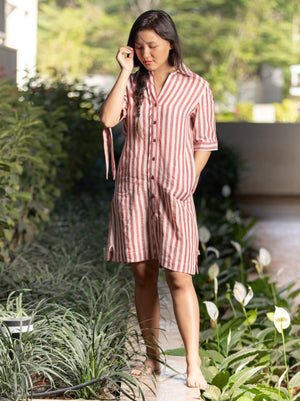 Como Shirt Dress with Knots