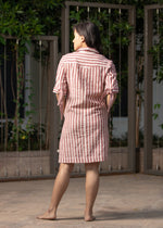 Moborr Como Organic Cotton Shirt Dress for Women Handwoven