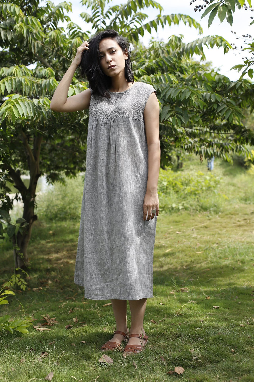 Long Tunic Dress by Moborr in crisp Organic Cotton
