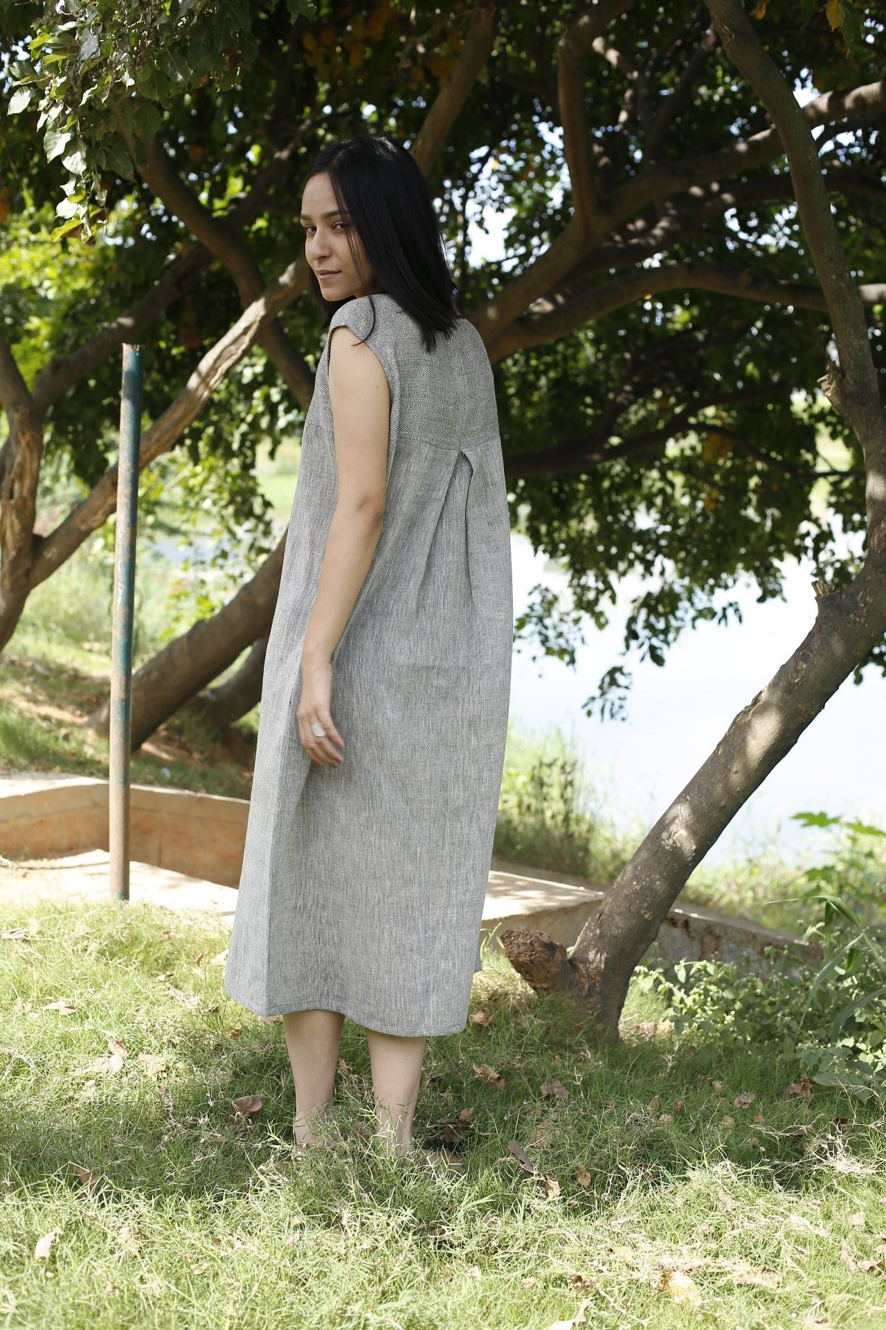 Long Tunic dess in handwoven cotton
