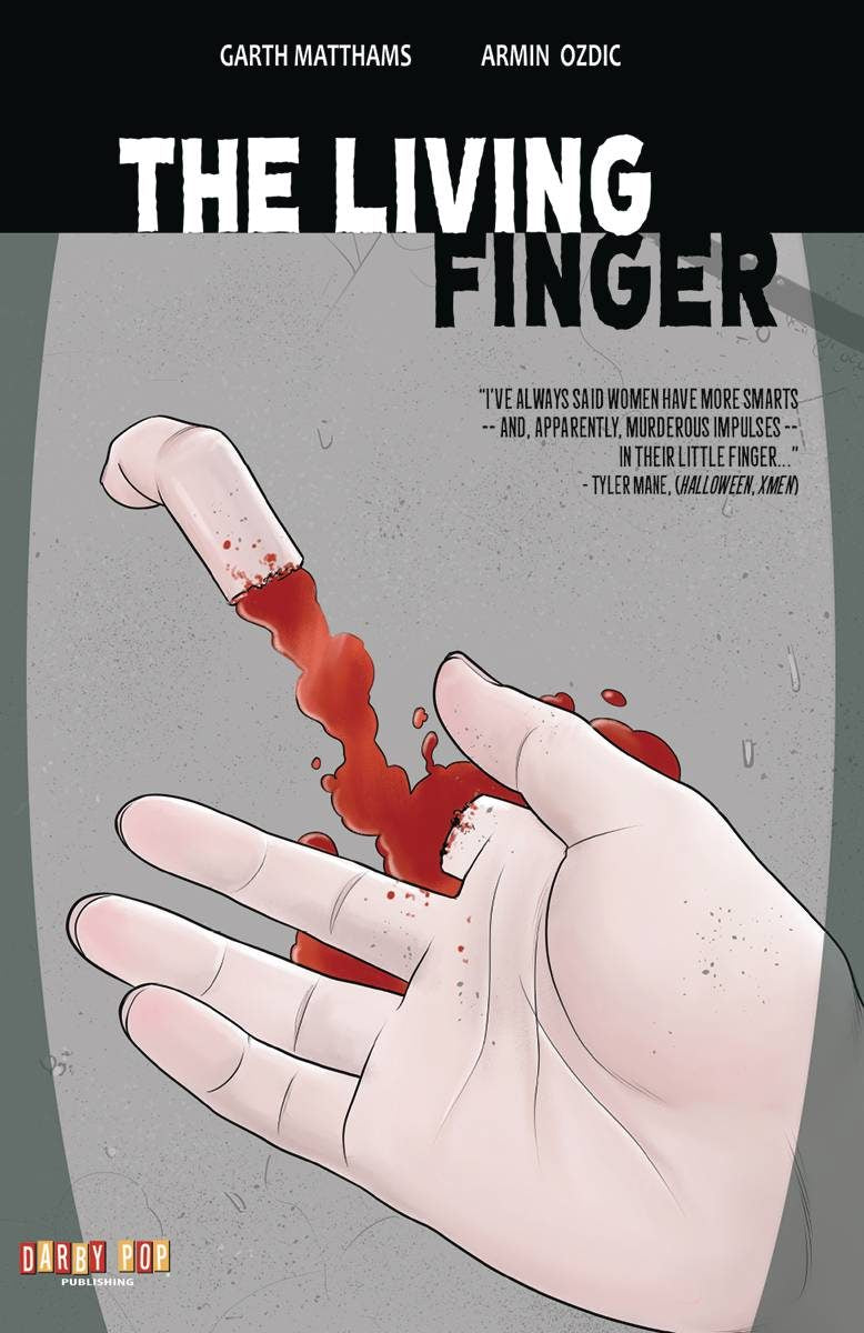 Cover to The Living Finger trade paperback