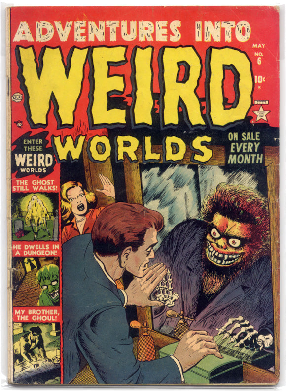 The inspiration for the Witch Creek Road issue 4 retro variant cover, in which a man looks into a mirror and sees a monster reflected