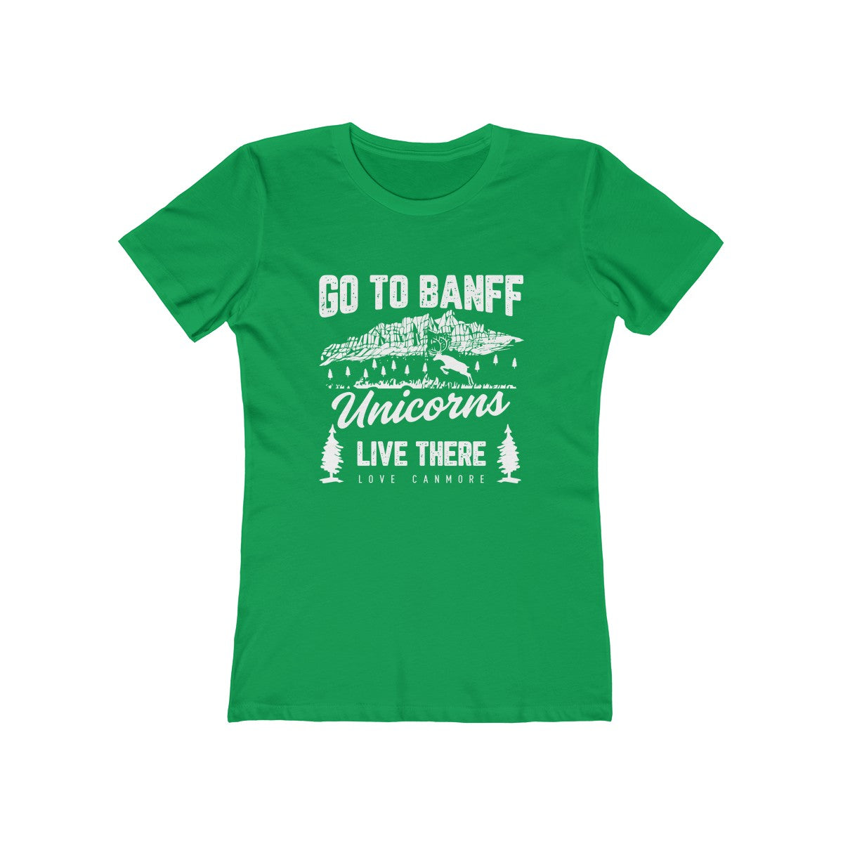 Women's GO TO BANFF UNICORNS LIVE THERE Tee