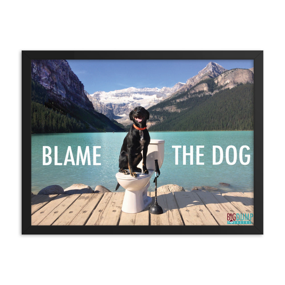 Blame the Dog Framed poster