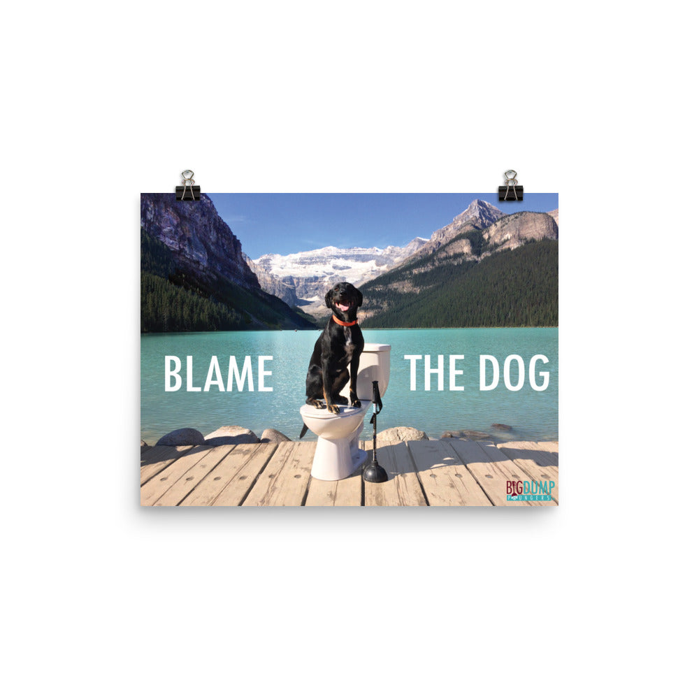 Blame The Dog Poster