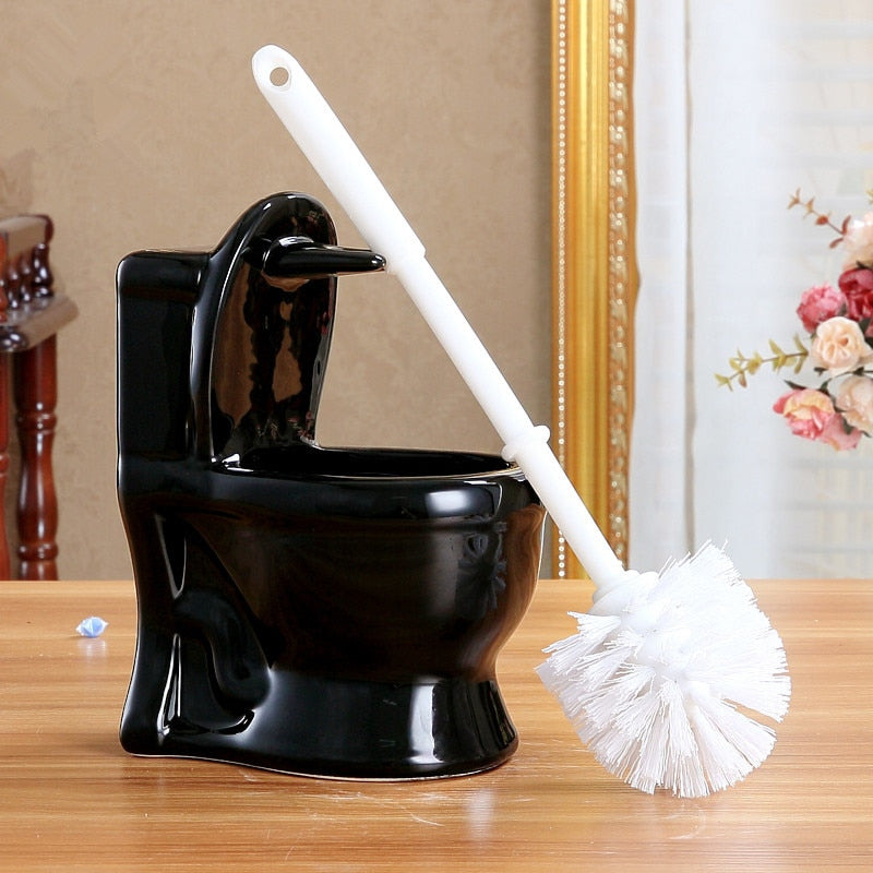 Literal toilet brush