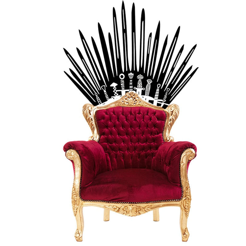 Throne wall decal