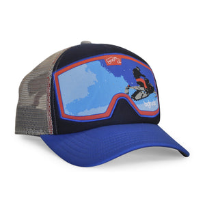 Original Goggle Snowmobile Blue Red