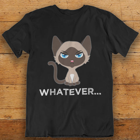 Whatever Cat T Shirt by Catariffic