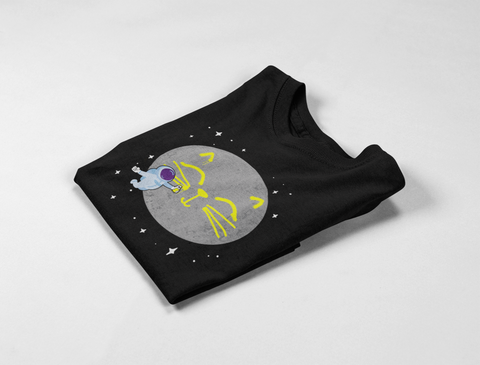 Moon Cat Face T-Shirt by Catariffic
