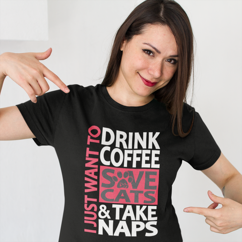 Drink Coffee Save Cats Shirt