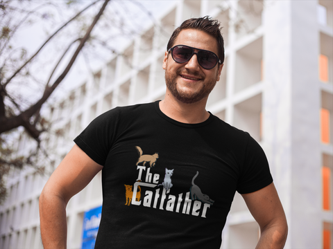 The Catfather T Shirt For Cat Dads by Catariffic
