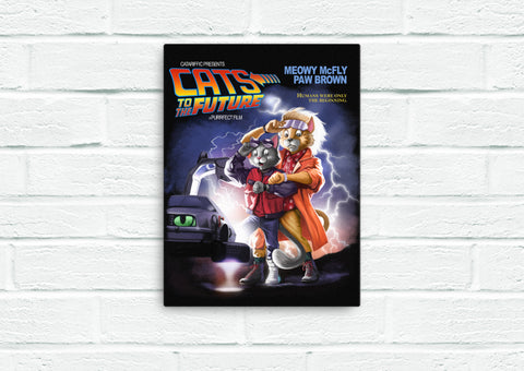 Cats To The Future Canvas