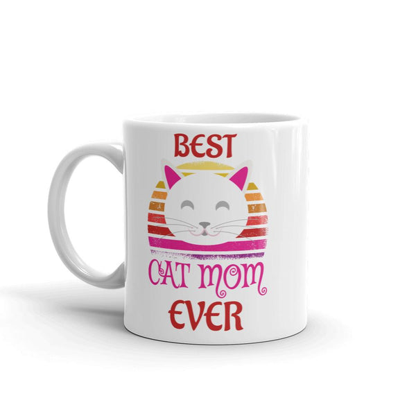 Best Cat Mom Ever Glossy Mug - Catariffic