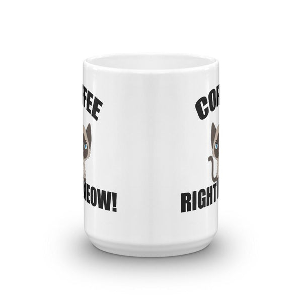 Coffee Right Meow Cat Mug - Catariffic