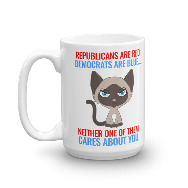 Funny Anti Politics Cat Mug - Catariffic