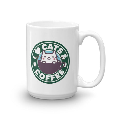 I Love Cats and Coffee Mug - Catariffic