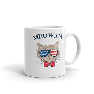 Meowica Patriotic Cat Mug - Catariffic