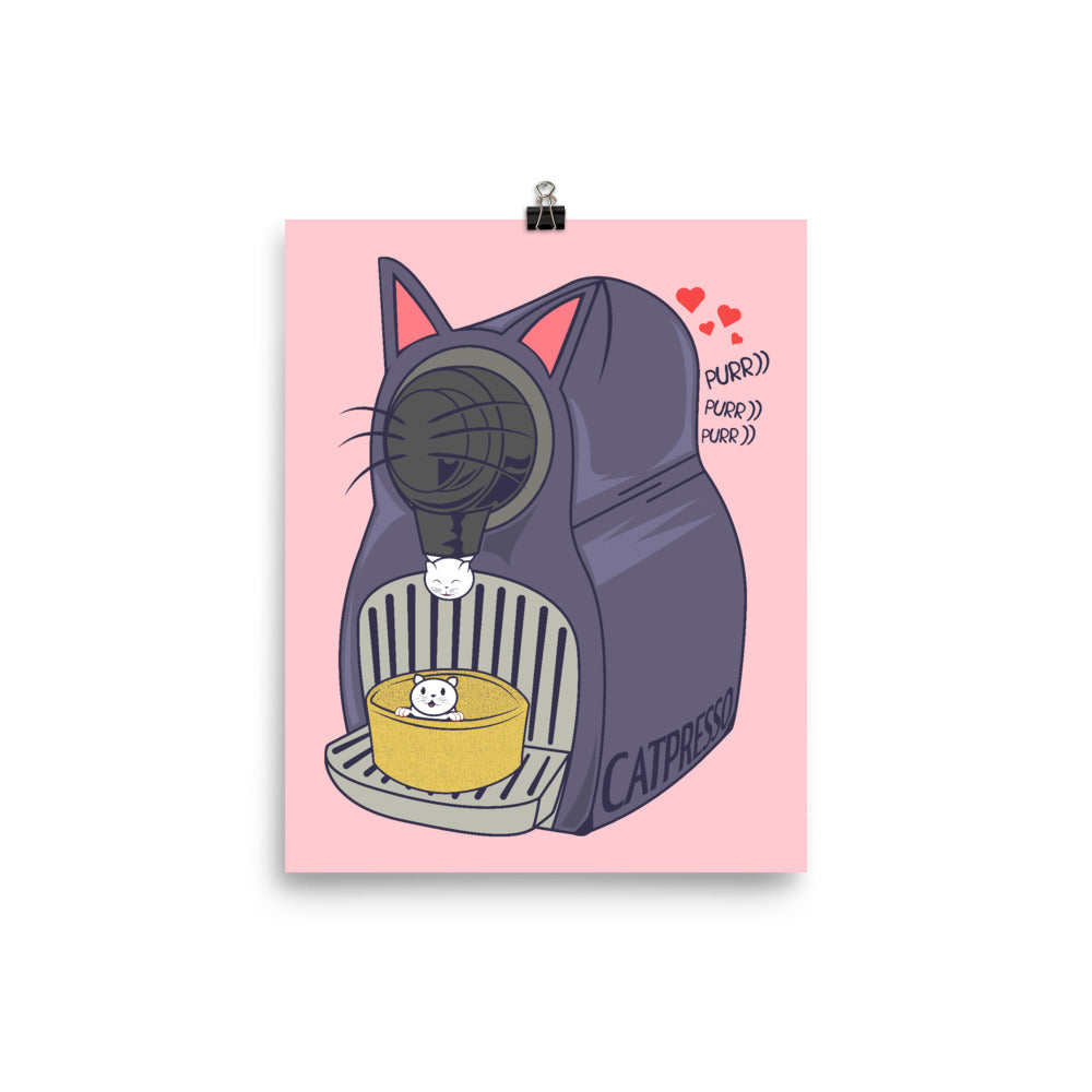 Catpresso Novelty Cat Machine Poster Art