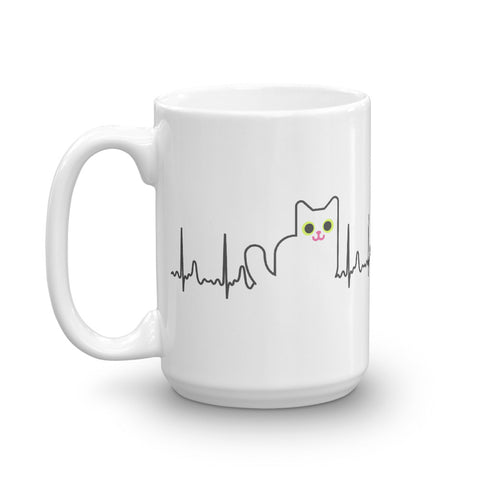 Cat Heartbeat Mug