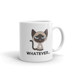 Whatever - Sarcastic Siamese Cat Mug