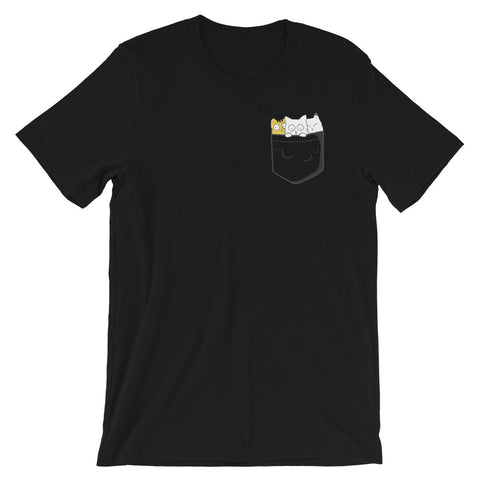 Cats In Pocket Funny Kitty Cats T-Shirt