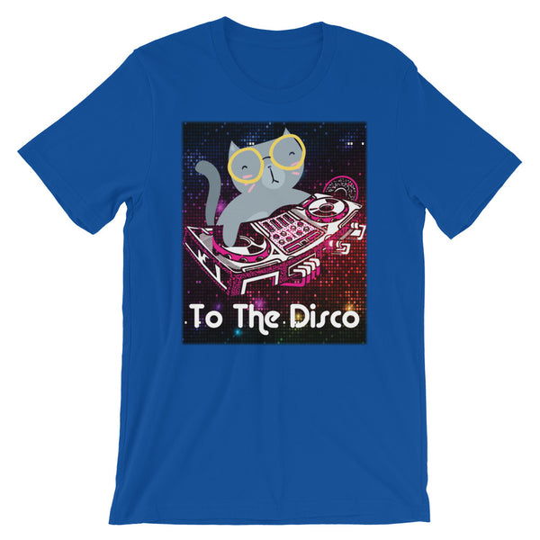To The Disco | Funny Cat DJ T Shirt