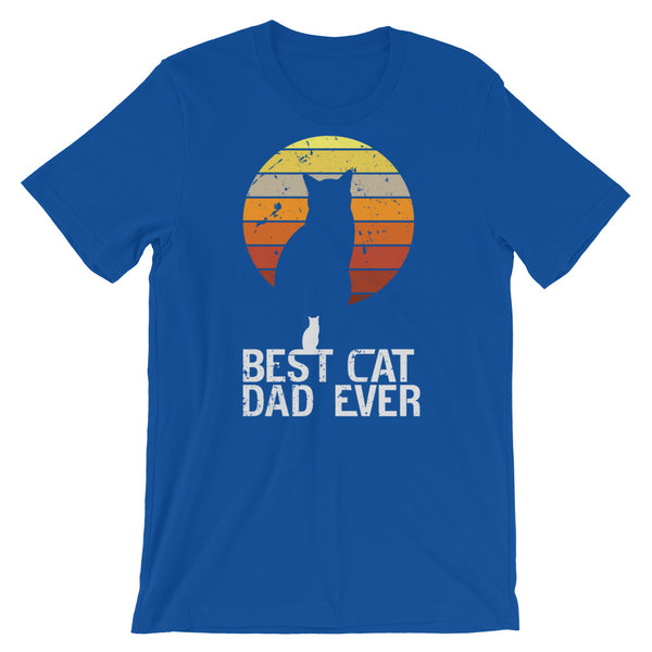 Vintage Sunset Best Cat Dad Ever T Shirt