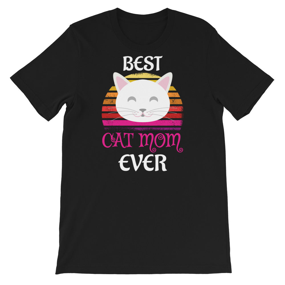 Smiling Kitten Best Cat Mom Ever T-Shirt