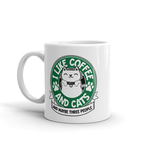 I Like Coffee and Cats and Maybe Three People Mug