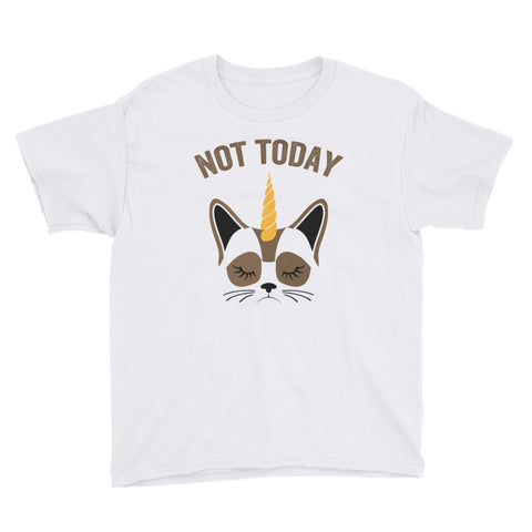 Not Today Unicorn Cat Shirt for Kids