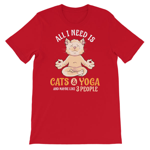 All I Need Is Cats & Yoga Shirt