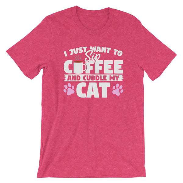 I Just Want To Sip Coffee and Cuddle My Cat T Shirt