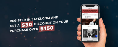 Register in Sayki.com and Get a $30 Discount On Your Purchase Over $150
