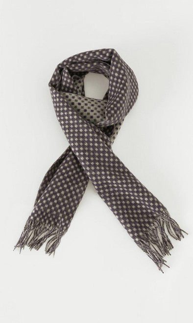 Checkered Wool Scarf-SAYKI MEN'S FASHION