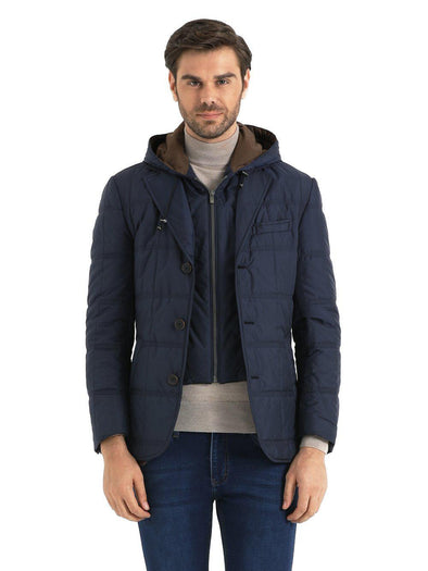 SAYKI Men's Light Blue Coat