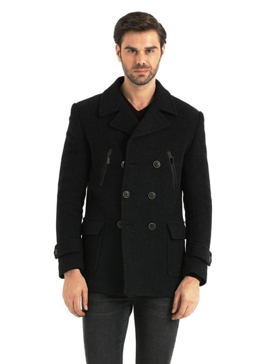 SAYKI Men's Porto Charcoal Coat