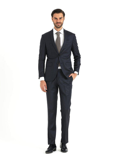 SAYKI Men's Broadway Dark Navy Blue Suit