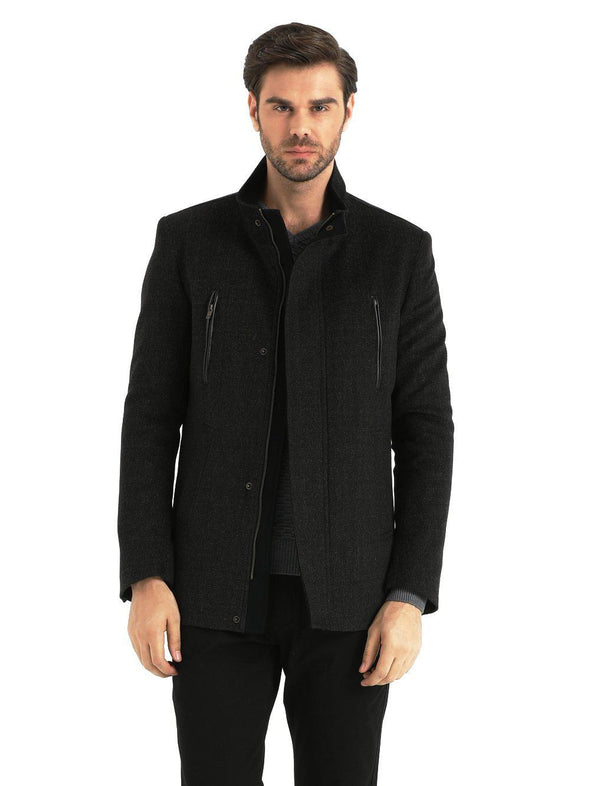 SAYKI Men's Piccadilly Charcoal Coat-SAYKI MEN'S FASHION