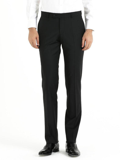 SAYKI Men's Slim Fit Black Classic Pants