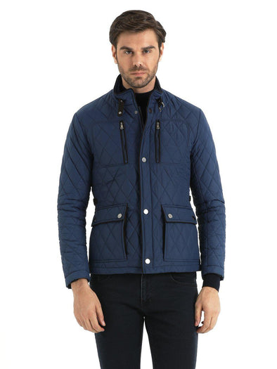 SAYKI Men's Blue Coat-SAYKI MEN'S FASHION