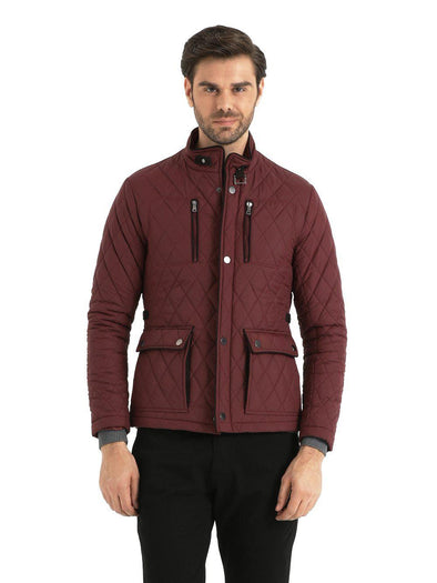SAYKI Men's Maroon Coat