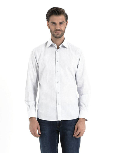 SAYKI Men's White Cotton Shirt-SAYKI MEN'S FASHION