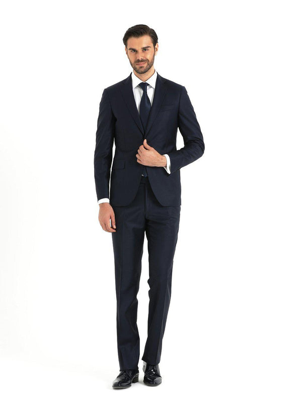 SAYKI Men's Slim Fit Single Breasted Navy Suit-SAYKI MEN'S FASHION