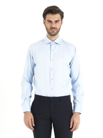 SAYKI Men's Blue Slim Fit Shirt